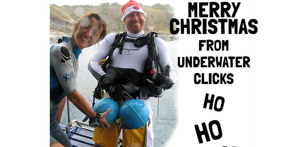 merry christmas divers funny underwater clicks